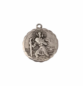 Georg Jensen Sterling Silver St Christopher Pendant with vehicles  6.1g  (D6F4)