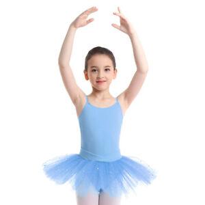 Mädchen Ballett Kleider Gymnastik ärmellos Tanztrikot Tutu Rock Ballettanzug M