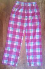 Womens Pink Plaid Thin Flannel Sleep Pajama Lounge Pants Size Medium