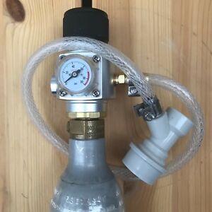 Sodastream CO2 Mini Gas Regulator Gas Line Corny Cornelius Keg Charger Ball Lock