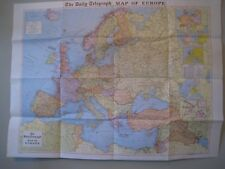 """DAILY TELEGRAPH """" GEOGRAPHIA"""" MAPS PURCHASED 1965: EUROPE, MIDDLE EAST, FAR EAST"""