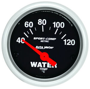 AUTO METER 2in Mini Sport Comp Water Temp Gauge -Metric P/N - 3337-M