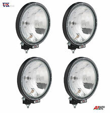 "4X 12V/24V 9"" INCH ROUND FOG SPOT LIGHTS LAMPS CAB TOP BAR TRUCK LORRY 4X4"