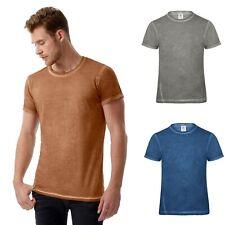 Herren T-Shirt mit auffälligen Effekt Rundhals Shirt 100% Baumwolle S M L XL XXL