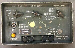 AM-1780 VIC-1 MILITARY VEHICLE INTERCOM CONTROL BOX TESTED GOOD