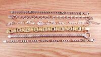 Vintage/Modern Sterling Silver .925 & CZ & Stones Tennis & Chain Bracelet Lot