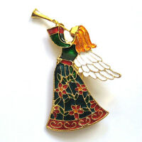 CHRISTMAS BROOCH & PIN / Costume Jewellery Party Enamel Accessory Birthday Gift