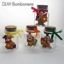 DLM24354 Barattoli in vetro con animali assortiti in resina (24 pezzi) bombonier