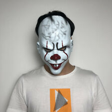 NEW Halloween Scary Mask Costume Stephen King's IT Clown Cosplay Pennywise