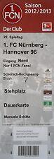 Ticket 2012/13 1. fc nuremberg-hannover 96