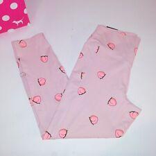 Victoria Secret PINK Leggings Large High Waist 7/8 Ankle Peach Best Butt New