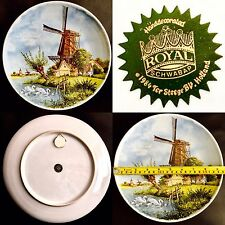 "Vintage (1984) Dutch Royal Schwabap ""Holland"" 9.5""/24cm Porcelain Wall Plate"