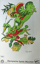 LAPICQUE CHARLES  - SERIGRAPHIE  ORIGINALE POUR LES JEUX OLYMPIQUES DE 1972