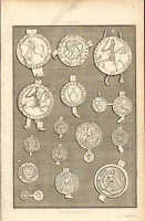 1803 LARGE GEORGIAN PRINT ~ BERKELEY FAMILY SEALS 12th-16th Cent GLOUCESTERSHIRE