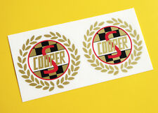 Mini Cooper S Classic Vintage style 'Laurel' side decals stickers GOLD