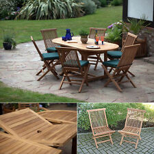 Teak Up to 6 Seats Table & Chair Sets with Extending