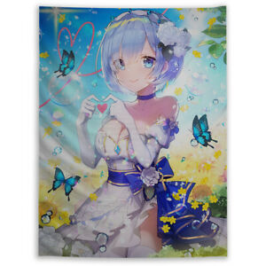 Re Zero Rem Tapestry Wall Art Poster Hanging Sofa Table Cover