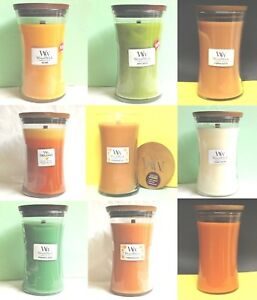 WoodWick Candles LARGE VASE JARS 21.5 oz 22 oz Soy Wax Yankee Candle - 7 CHOICES