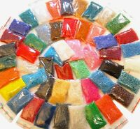 Rocailles 4mm 30 Farben GLAS PERLEN Kugel 6/0 POSTEN EDEL MIX AM55