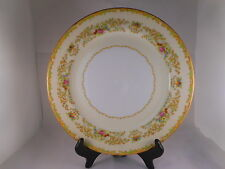 Vintage Dinner Plate, Noritake China Mystery Pattern, Green Accent, Vase, Floral
