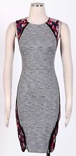 RACHEL ROY Grey Combo Sz 4 Women's Wear to Work Stretch Dress $149 New