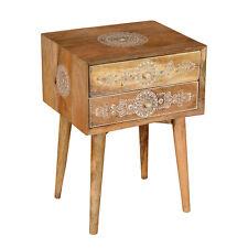 Oriental Commode Vintage Table de Chevet Mangue Massif Raumwunder Kalidas