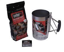 Weber Grillstarterset 2 kg Grill Kohle Anzündkamin 6 Anzünder Rapidfire