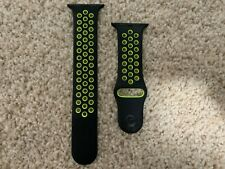 Apple Watch Black Volt Nike+ Sport Band Series 1 2 3 42mm 4 & 5 44mm Genuine M/L