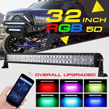5D 32inch 420W Rock RGB CREE LED Light Bar MultiColor Offroad Truck SUV Disco 36