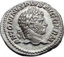 CARACALLA 213AD  Silver Authentic Genuine Ancient Roman Coin MONETA i61519