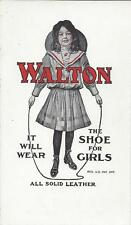 WALTON THE SHOE FOR GIRLS, IT WILL WEAR,ALL SOLID LEATHER,GIRL WITH JUMP ROPE