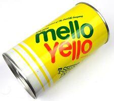 COCA-COLA Mello Yello USA BARATTOLO CON T-SHIRT + 2 Quarter Dollaro monete contenuto