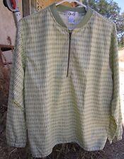 NWT IZOD GOLF Light Green Print Half Zip Polyester Windbreaker Jacket Mens SMALL