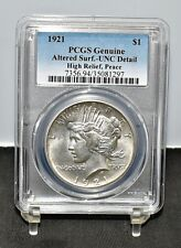 1921 Peace Dollar, High Relief - PCGS Unc Details (#12569)