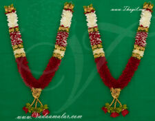 Indian Design Bridal Garlands Wedding Mala Synthetic Washable Handmade Buy Now
