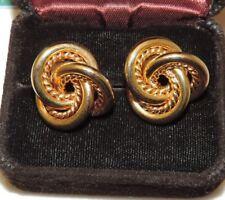 Chunky Gold Love Knot Doorknocker Pierced Earrings Fb 5