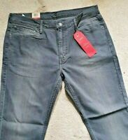 Levi's W36 L30 stretchable Men's 511 denim  Jeans Light charcoal color