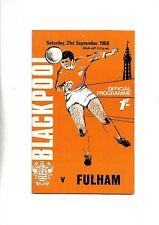 BLACKPOOL V FULHAM 21/09/1968 DIVISION 2  (6)