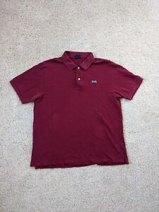 Le Tigre Polo Shirt Men's XL Red Blue Golf Rugby S/S Tiger Cotton Casual