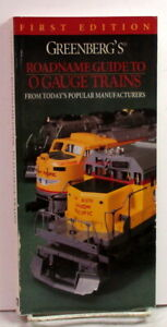 Book~Greenberg's Roadname Guide to O Gauge Trains~1st Edition~1997