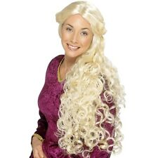 Womens Renaissance Wig Game of Thrones Daenerys Fancy Dress Rapunzel Tangled Fun