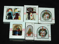 Christmas Ornaments Six (6) Piece Wang's Tree Decorative Collectibles Vintage