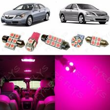 16x Pink LED lights interior package kit for 2005-2012 Acura RL + Tool AR4P