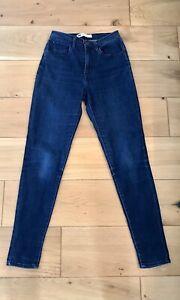 Ladies Womens Levi's Skinny Jeans W27 L30 Dark Wash