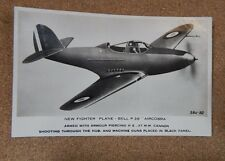 WW2 fighter Plane Bell P39 Aircobra unposted Valentine and company xc2