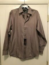 NWT Ben Sherman Mens Long Sleeve Brown Dress Shirt Size 15 1/2 32-33 M