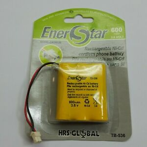 HRS RECHARGEABLE NI-CD PHONE BATTERY 600MAH 3.6VOLTS NI-CD TB-536 (J3200)