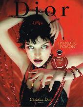 PUBLICITE ADVERTISING 094  1997  DIOR  parfum HYPNOTIC POISON   MILA JOVOVICH