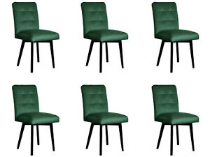 6x Chairs Chair Pads Design Lounge Club Seat Lehn Set Armchair Neu