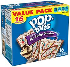 NEW POP TARTS FROSTED HOT FUDGE SUNDAE 27.1 OZ BOX16 TOASTER PASTRIES VALUE PACK